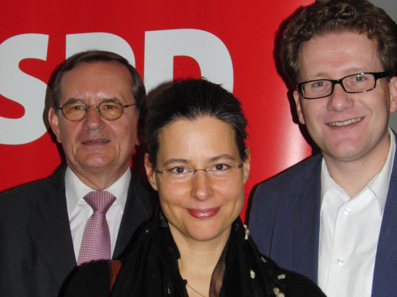 Foto: Hermann Hanser, Dr. Nina Scheer, Martin Habersaat