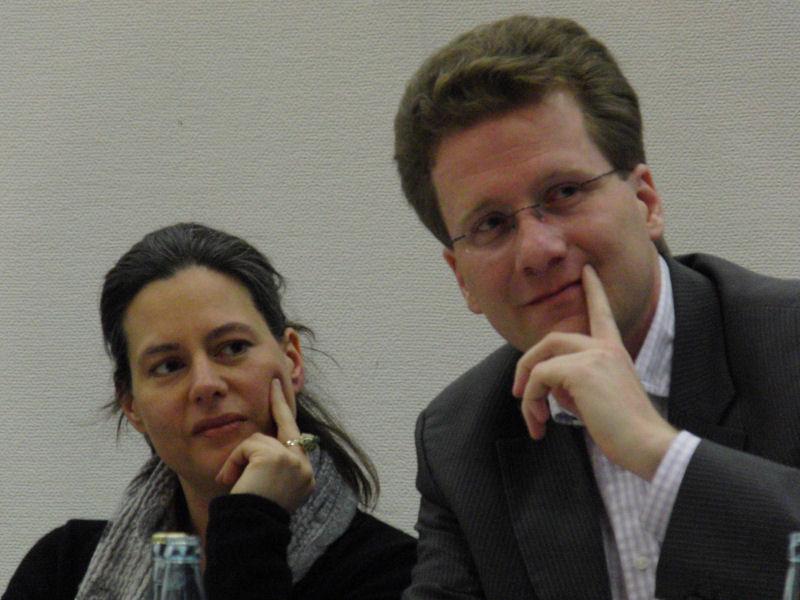 Foto: Dr. Nina Scheer und Martin Habersaat